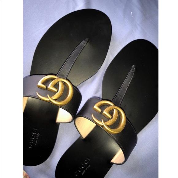 Gucci Shoes   Gucci Gg Marmont Sandals
